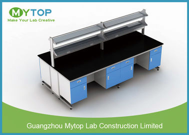 Rumah Laboratorium Laboratorium Bakteriostatik Lab Lab Island Table For Clean Room C Frame
