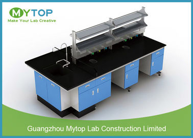 Lab Rumah Sakit Anti Bakteri Lab Furniture Metal Island Table for HIV Laboratory