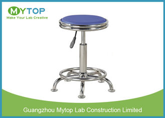 PU Surface Armless Office Chairs with Wheels, Lab Bench Stools 420 mm - 560 mm