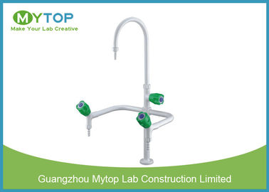 Triple Outlet Brass Lab Sink Faucets Laboratorium Fitting Untuk Lab Water Supply