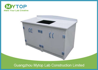 PP Waterproof Hospital Laboratorium Laboratorium Lab Island Bench With Back Splash