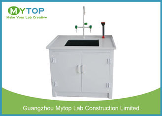 Small Laboratory Working Table PP Water Lab Bench with Cabinet Chemical Resistance