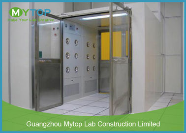 Electric Interlock Cargo Goods Air Shower Tunnel Dengan Double Doors For Cleanroom